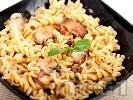 Рецепта Паста фузили с гъби манатарки и сметана